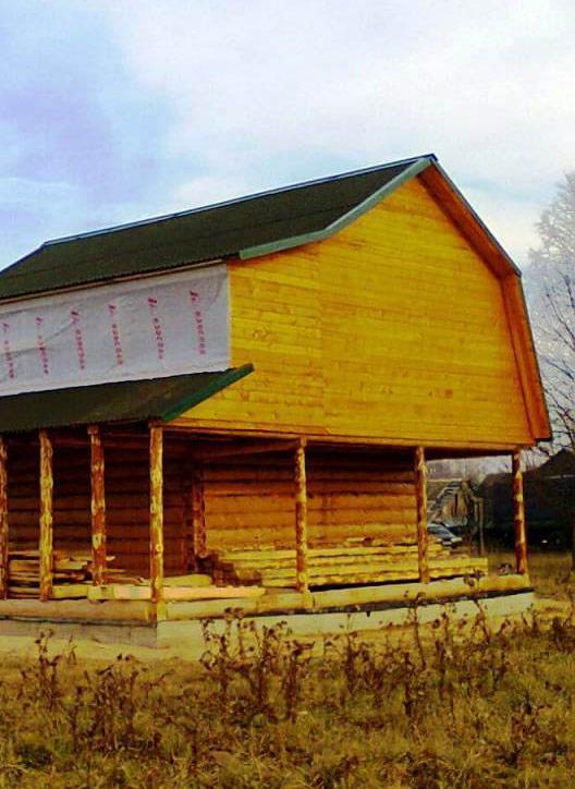 Дом с просторной мансардой