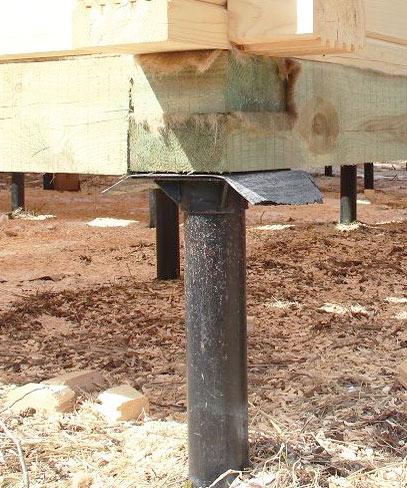 Скидки до 25% на свайный фундамент при заказе сруба